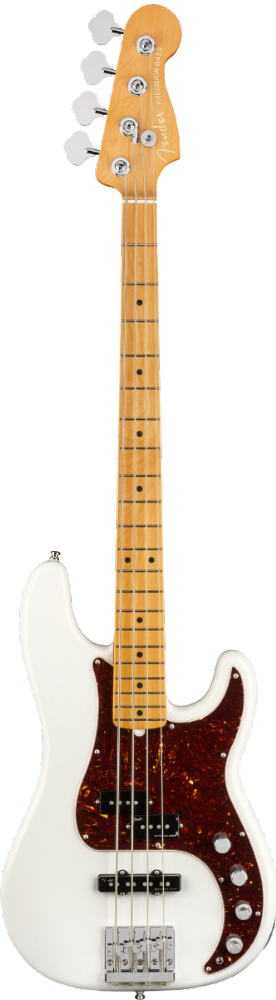 Fender  American Ultra Precision Bass Maple Fingerboard, Arctic Pearl